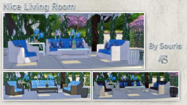 Nice Outdoor Living Room Set by Souris