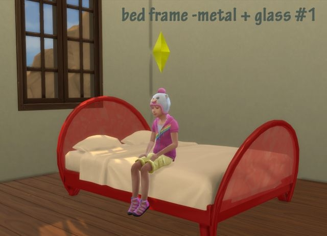 Metal and Glass Bed Frame by Roundog