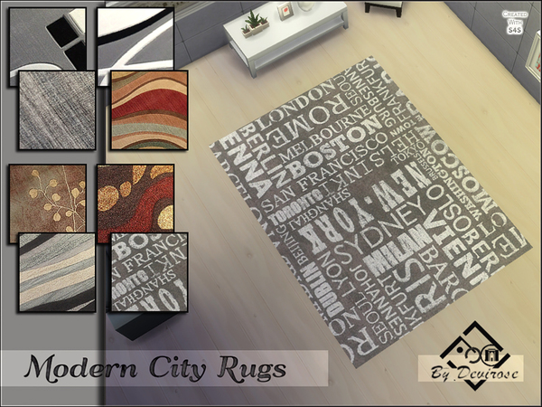 Modern City Rugs Set by Devirose