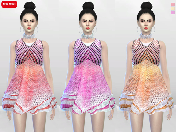 Sugar Creme Full Dress by McLayneSims