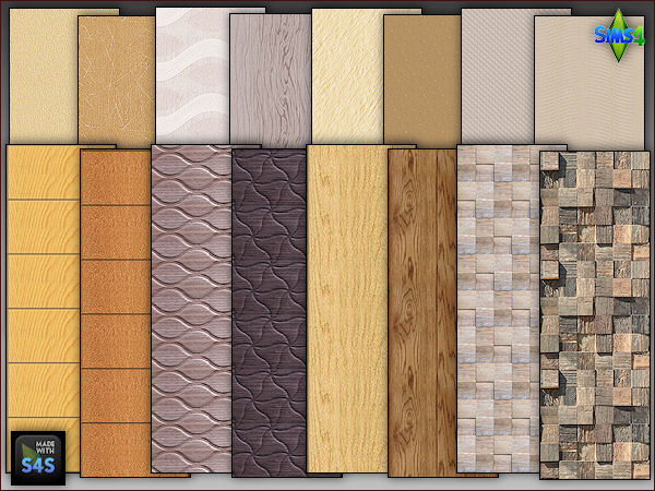 4 wall sets including 2 wooden panels and 2 wallpapers by Mabra