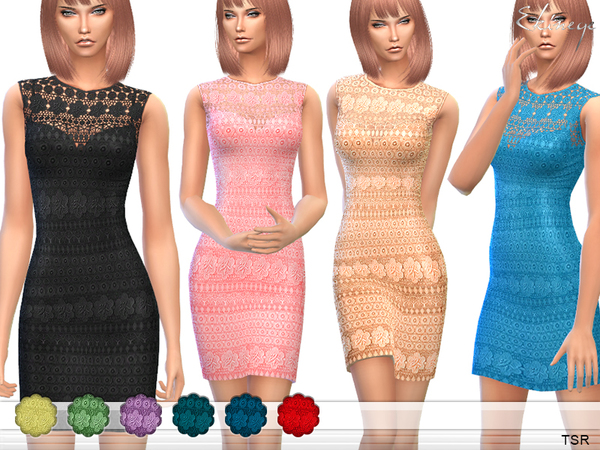 Crochet Panel Dress by ekinege