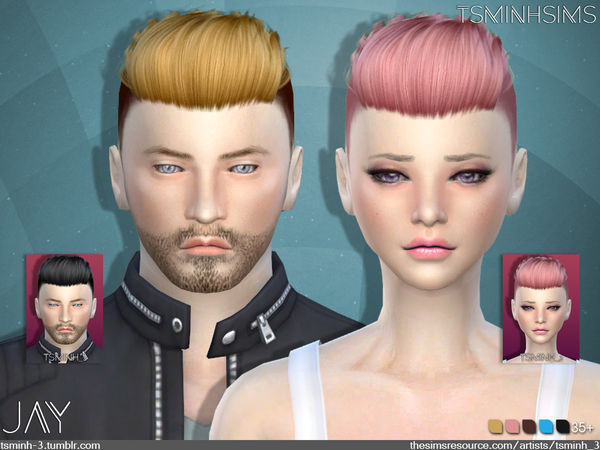 JAY  Hairstyle 9 by TsminhSims
