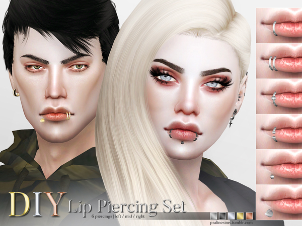 DIY Lip Piercing Set by Pralinesims