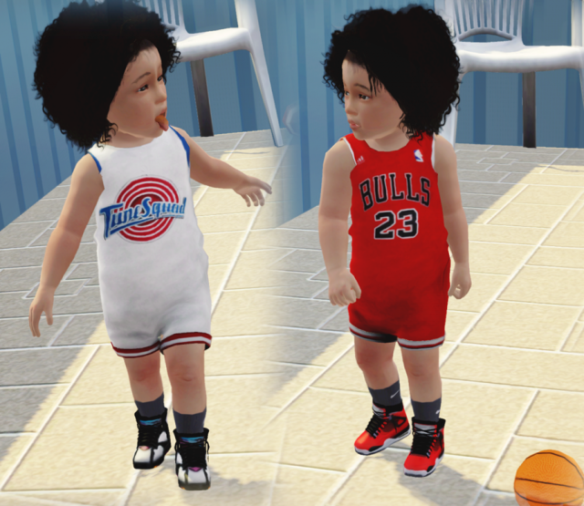 Toddler Basketball Rompers by sincerelyasimblr