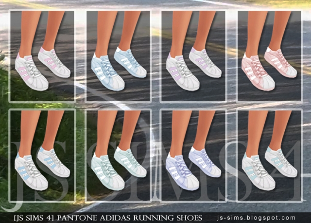 Pantone Adidas Running Shoes by JS Sims 4