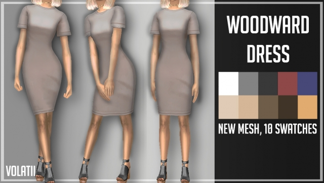 WOODWARD DRESS by Volatile Sims