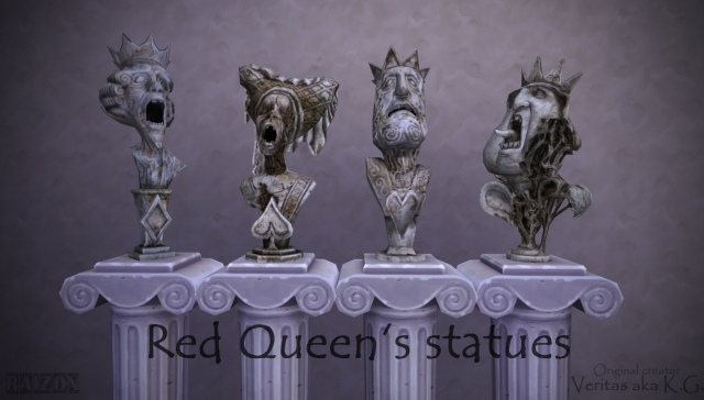 Alice Madness Returns Red Queen Statues by Raizon