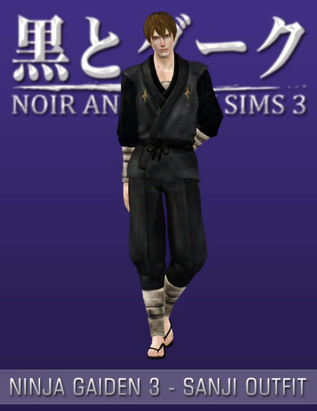 Ninja Gaiden 3 - Sanji Outfit by Noir and Dark Sims