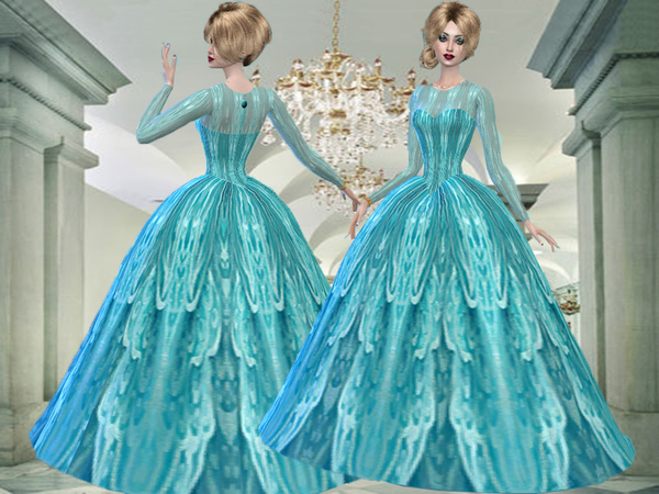 Turquoise formal dress-Need Mesh by TrudieOpp