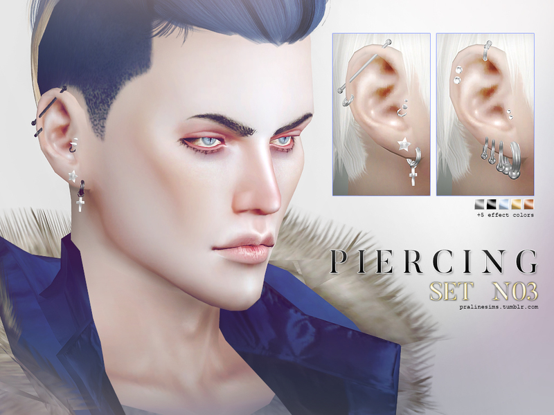 Piercing Set N03 by Pralinesims