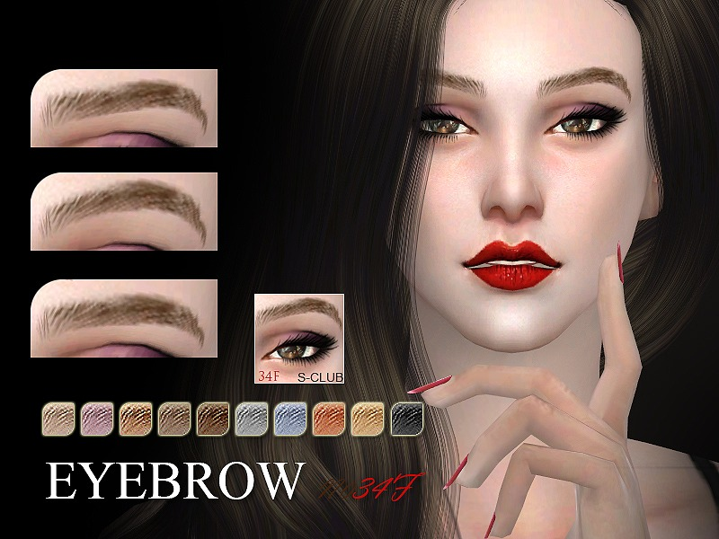 S-Club WM thesims4 Eyebrows 34F by S-Club