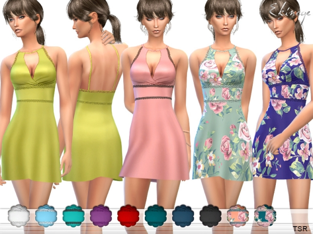 Halter Skater Dress by Ekinege