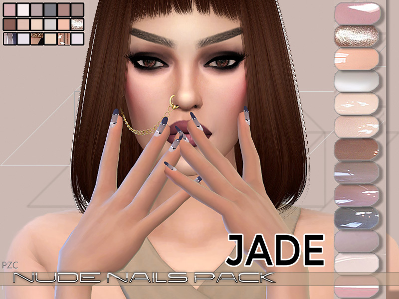 Nude Nails Pack Jade by Pinkzombiecupcakes