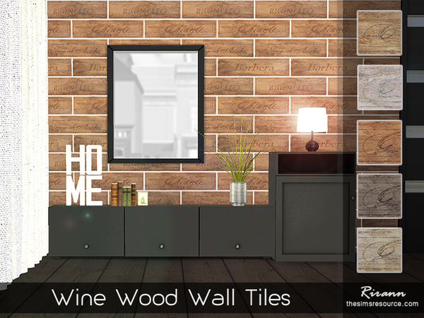 Wine Wood Wall Tiles by Rirann