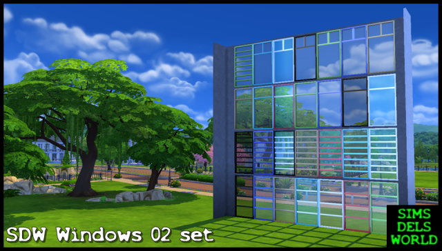 SDW Windows 02 set by SimsDelsWorld