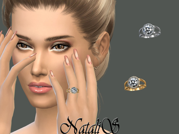 NataliS_Halo diamond engagement ring
