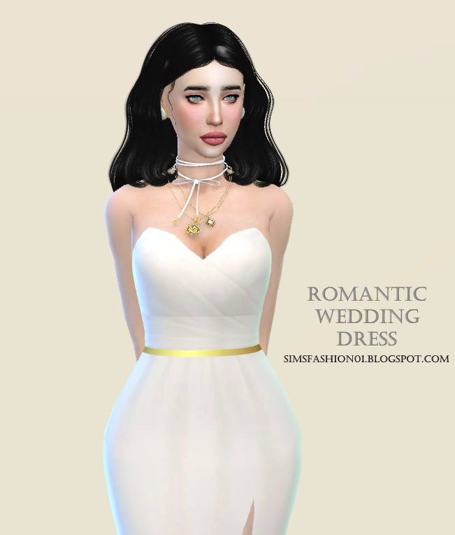 Romantic Wedding Dress by SimsFashion01