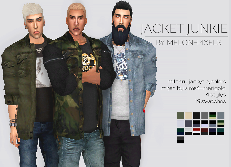 Jacket Junkie for Males by MelonPixels