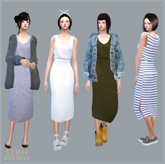 Casual Sleeveless Dress by marigold