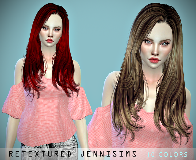 Sweet Slumber and Josie Hair Retexture by JenniSims