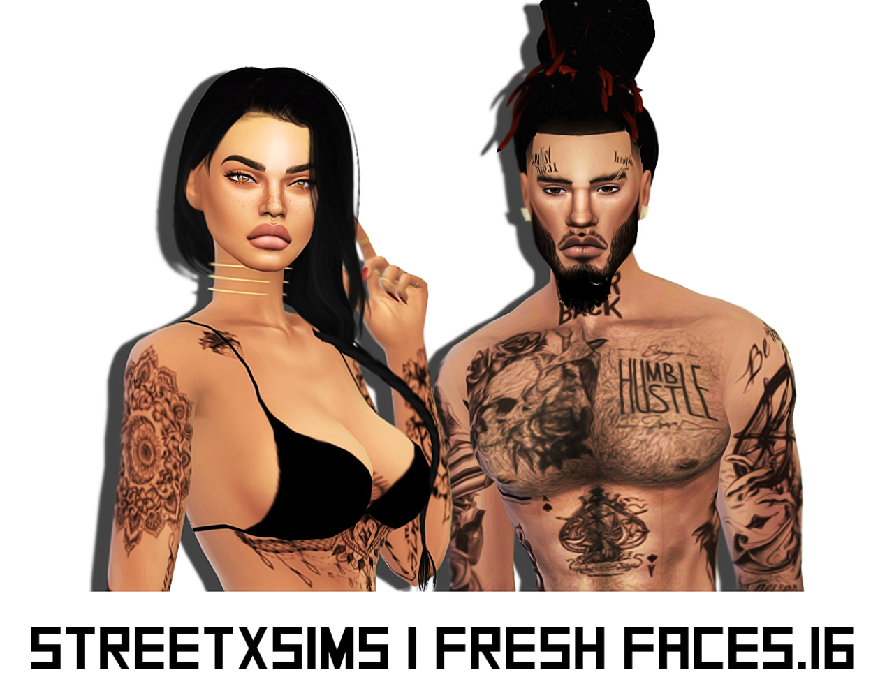 Tattoos for Females and Joggers for Males by StreetXSims