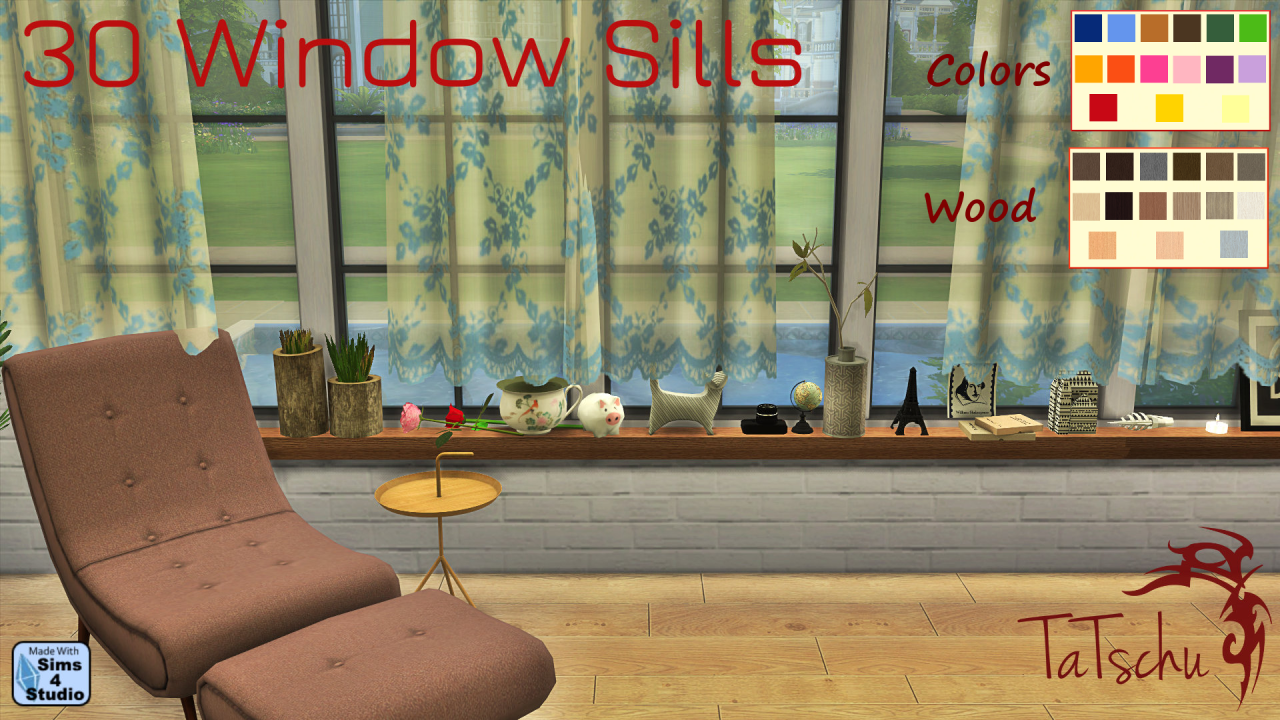 Window Sills in 30 Recolors by Tatschu