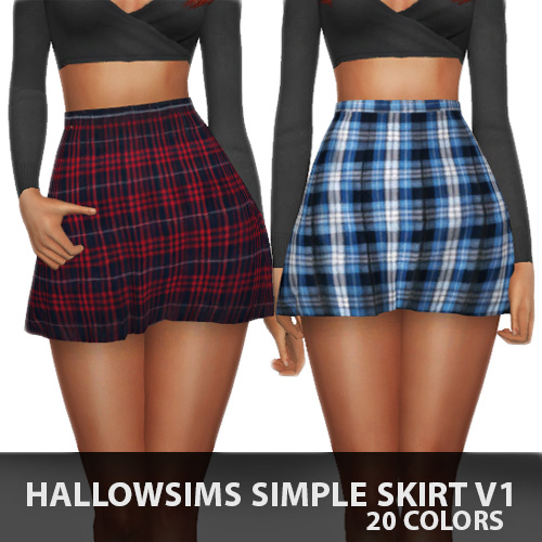 Simple Skirt V1 by Hallow Sims