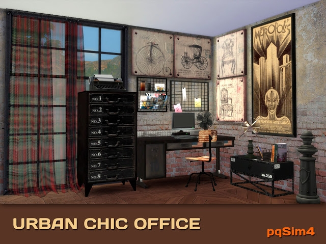 Urban Chic Office Set by pqSim4