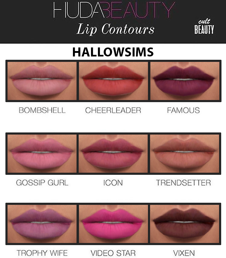 HALLOWSIMS HUDA BEAUTY LIP CONTOURS