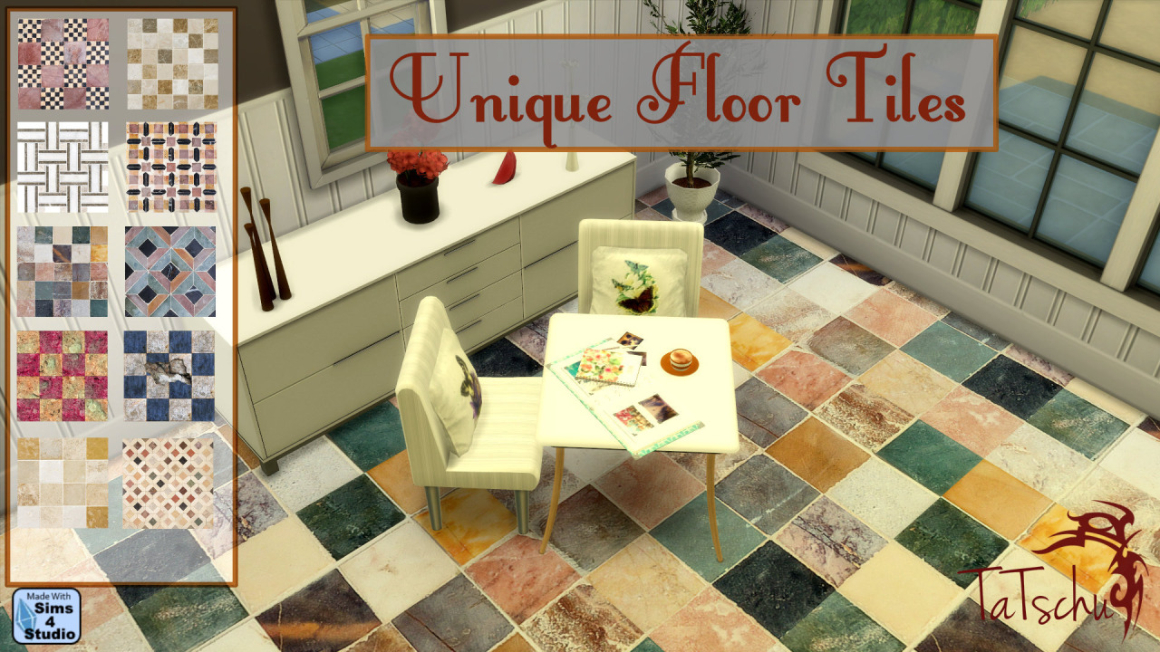 Unique Floor Tiles by Tatschu