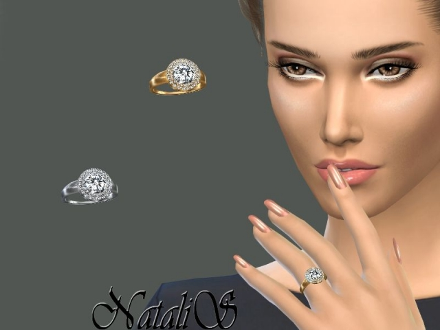 Double halo daimond ring by NataliS