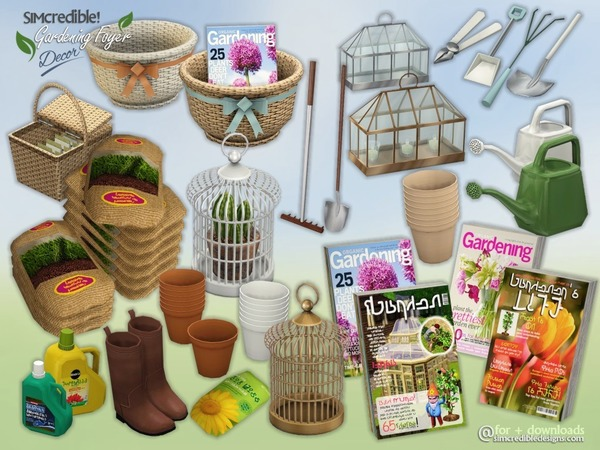 Gardening Foyer decor by SIMcredible!