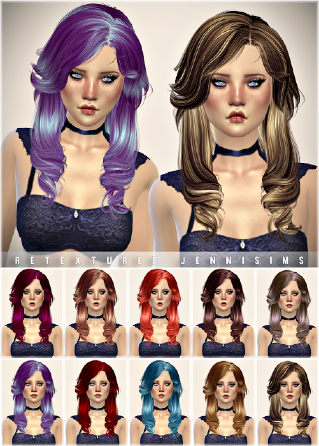 Newsea Aileen Hair retexture by JenniSims