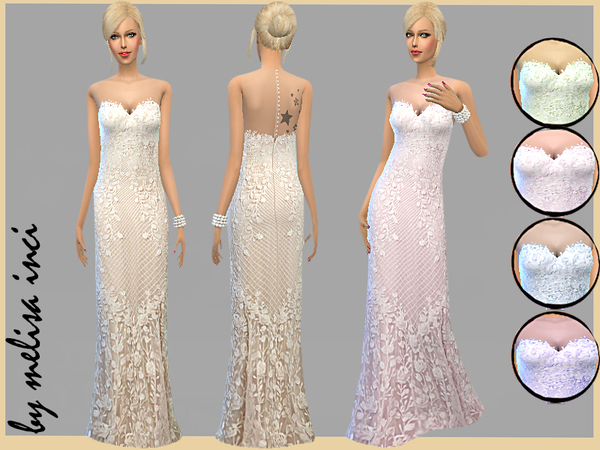 Sleeveless Lace Wedding Dress by melisa inci