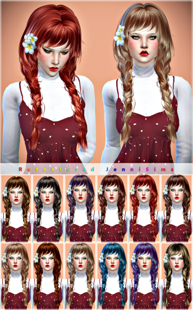 Newsea May Sun Hair retexture by JenniSims