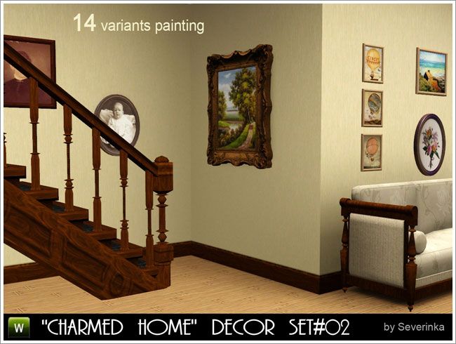 """Charmed Home"" Decor set #02. Paintings"