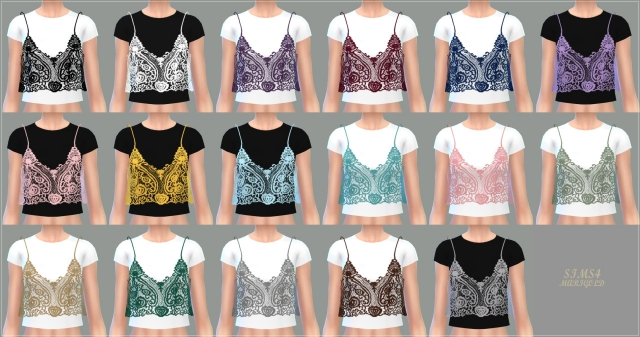 Lace Bustier With TShirt by marigold