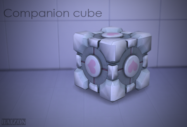 Portal Companion cube by Raizon