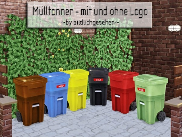 Trash Can Recolors by Bildlichgesehen
