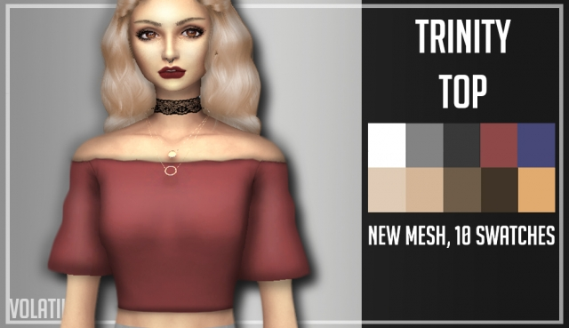 TRINITY TOP by Volatile Sims