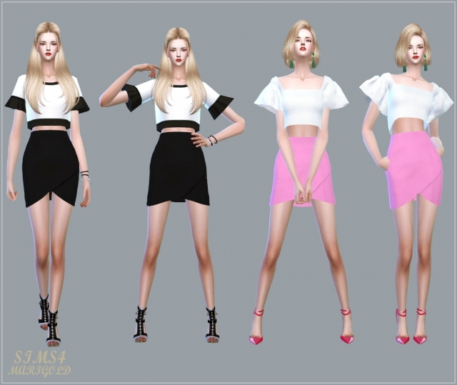 Tulip Skirt (Single color version) by marigold