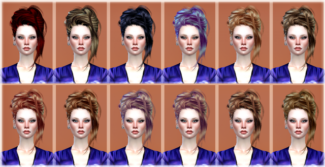 Newsea Crazy Love Hair retexture by JenniSims