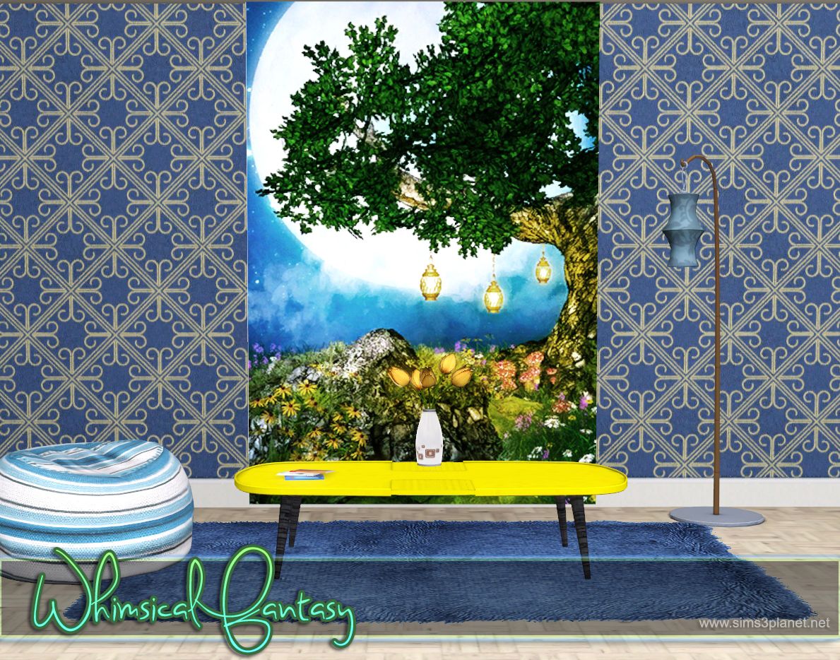 Whimsical Fantasy Backgrounds by lorelea