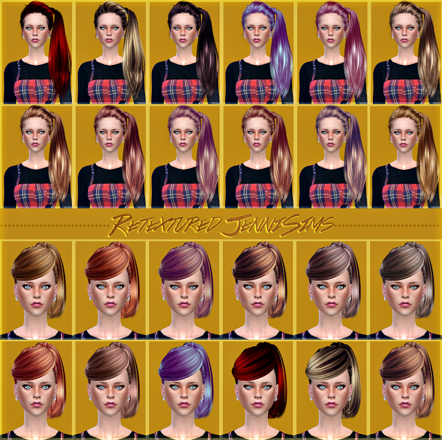 Butterflysims 164,130 Hairs retextures by JenniSims