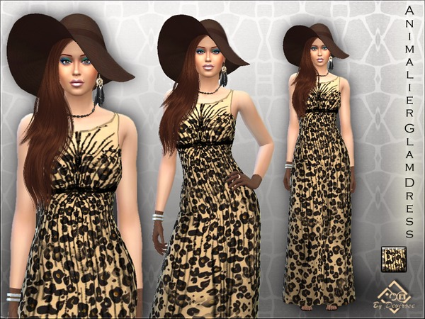 Animalier Glam Dress by Devirose