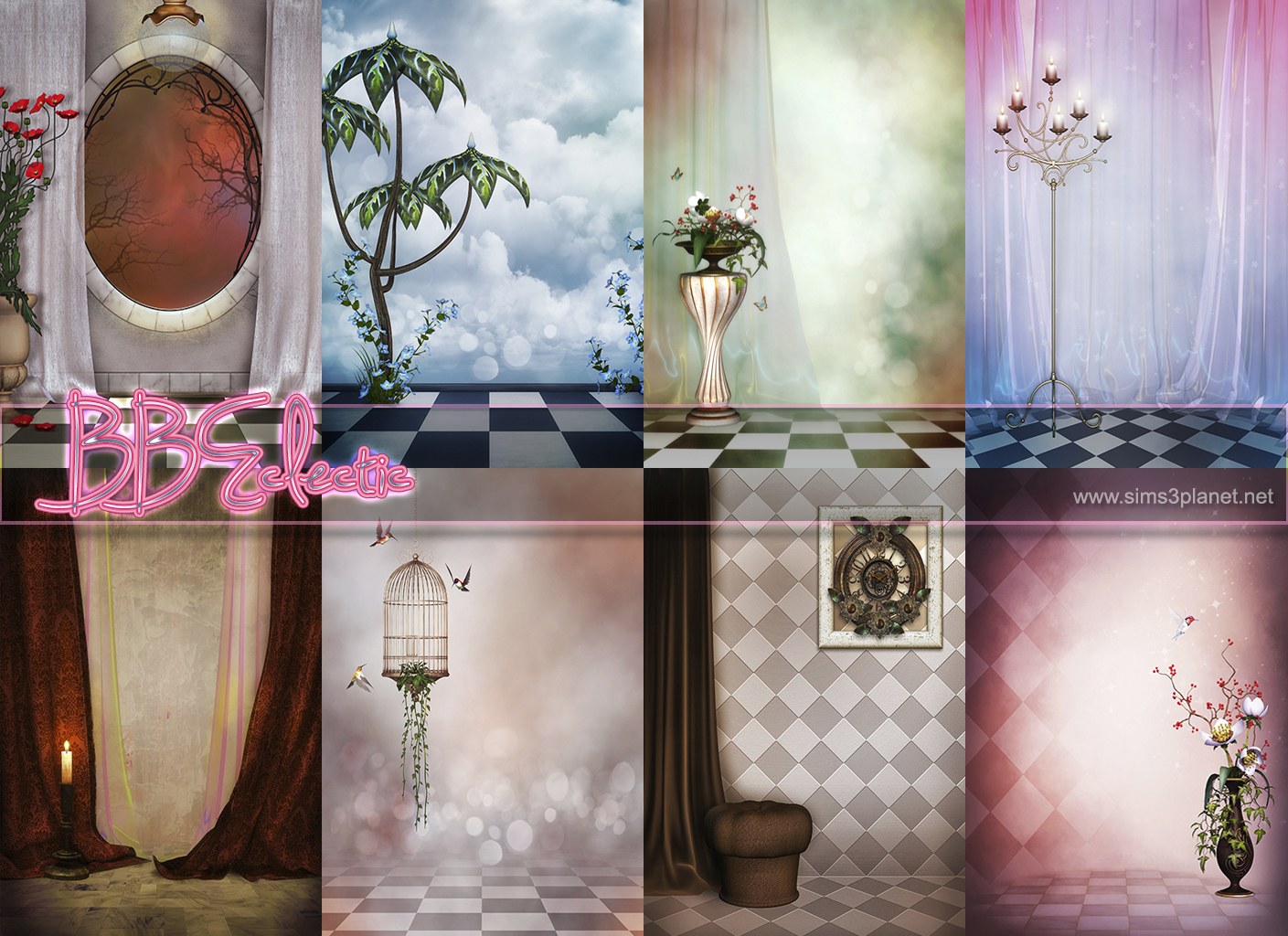 BBEclectic Backgrounds by lorelea