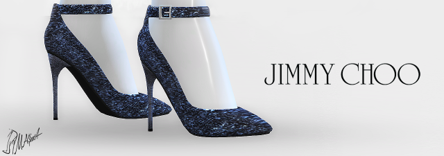 Jimmy Choo Glitter Ankle-Strap Pumps by MrAntonieddu