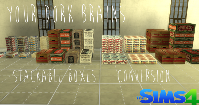 Stackable Boxes Conversions by Your Dork Brains