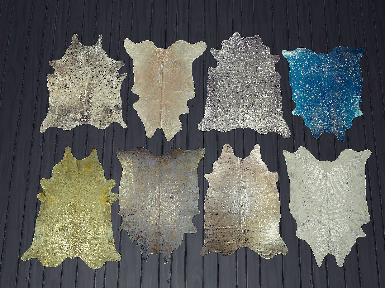 Metallic Cowhide Rugs by Daer0n